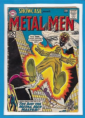 "Showcase #40_October 1962_G/vg_""the Day The Metal Men Melted""_Silver Age Dc!"