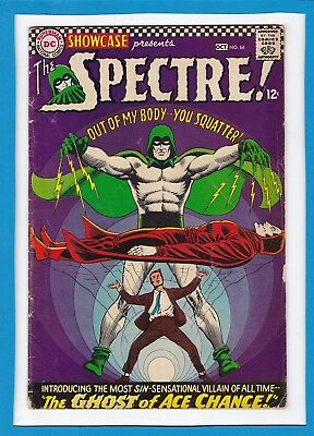 """Showcase #64_Oct 1966_Very Good_Spectre_""""the Ghost Of Ace Chance""""_Silver Age Dc!"""