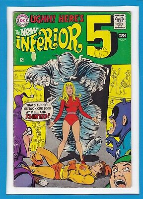 "The Inferior 5 #9_August 1968_Fine Minus_""mummy's The Word""_Silver Age Dc!"