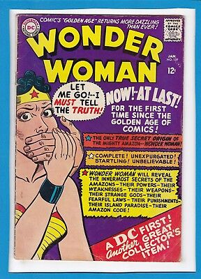 Wonder Woman #159_January 1966_Very Good_Origin Retold_Silver Age Dc!