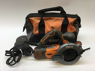 "Ridgid 5"" 2-Blade Circular Saw with Tool Bag (Model R3250) *For Parts*"