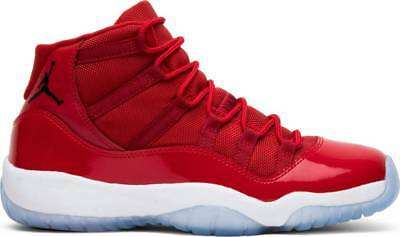 8b18b926480dc8 NIKE AIR JORDAN 11 XI Retro BG Win Like  96 Gym Red Black-White ...
