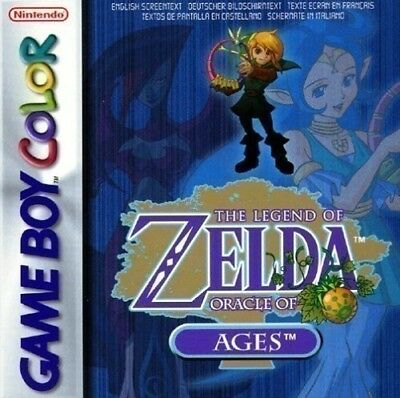 GameBoy Color game - The Legend of Zelda: Oracle of Ages cartridge with manual