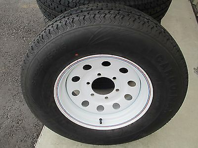 1 New St 225 75r15 Cargo Max Radial Trailer Tire And Wheel 10 Ply
