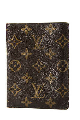Louis Vuitton Brown Coated Canvas Monogram Bifold Passport Holder