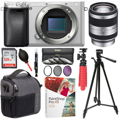 Sony ILCE-6300/S a6300 4K Mirrorless Camera + 18-200mm Alpha E-mount Lens Bundle