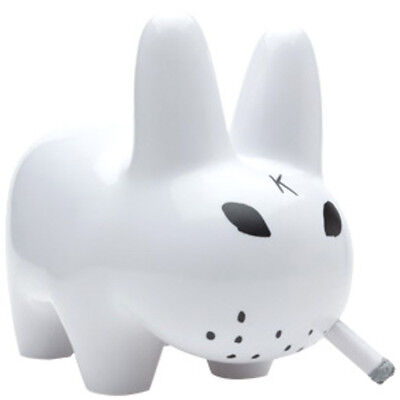 "KOZIK - Smorkin' Labbit 10"" Lustre Gloss ~ White Edition (Kidrobot) #NEW"
