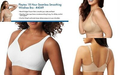 e6da3fa0ec6c9 PLAYTEX 18 HOUR Seamless Smoothing Women s Wirefree Bra 4049