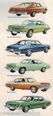 1973 Chevrolet NOVA Brochure / Catalog: SS-350,