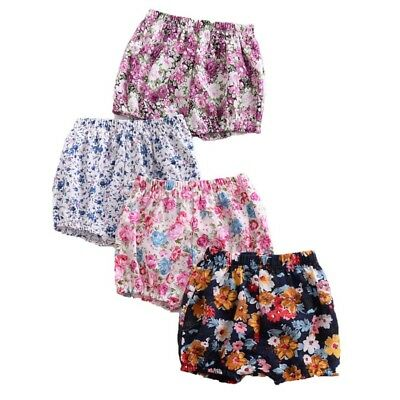 12M-4T Baby Grils Floral Printed Soft Shorts Toddler Child Cute Bread PP Pants