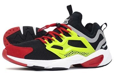 REEBOK MEN FURY Adapt black hyper green red rush white AR1868 size 7 ... 67453ea85