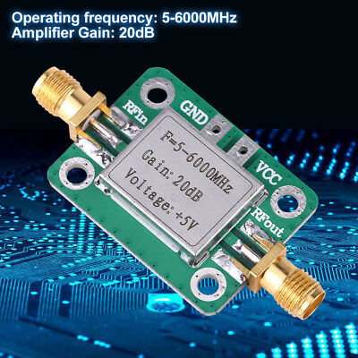 5M~6GHz RF Broadband Signal Amplifier Power Amplifier Gain 20dB VFH UHF SHF el