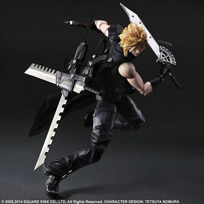 "/""Cloud Strife/"" Final Fantasy VII Advent Children Play Arts Kai Action Figure Gif"