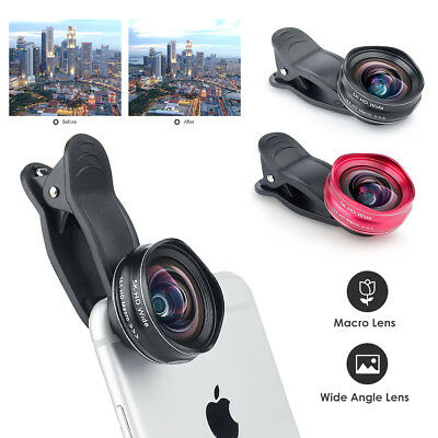 2in1 Clip Universal Cell phone 0.45X Wide Angle+15X Macro Camera Lens For iPhone
