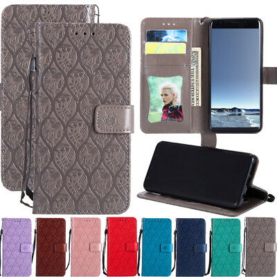 For Samsung Galaxy S9+ S8 S7 Magnetic Flip Stand Card Wallet Leather Case Cover