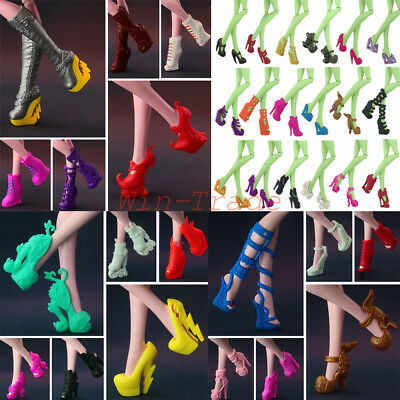 5Pair Different Heels Boots Shoes Clothe Accessories for Monster High Dolls Gift