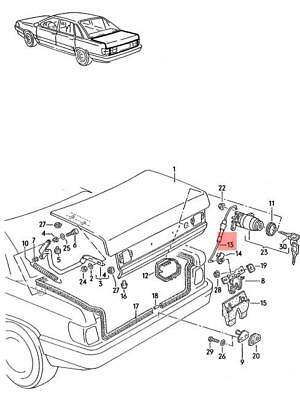 Details About Genuine Coupling Element Audi Audi A4 Avant S4 Cabrio