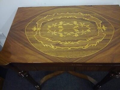 Antique French Style Inlaid Card Table-Rosewood