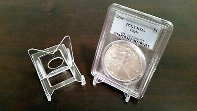"~5 BLACK 1-1//2/"" Display Stand Easel for Proof Sets Mint Set NGC PCGS Coin Slab"