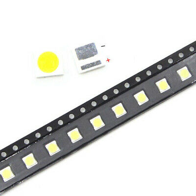 50PCS SMD LED 3535/3030 6V/3W Cold White CHIP-2 2W/1W For TV/LCD BacklightUK