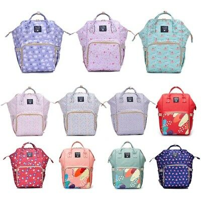 Mummy Dad Maternity Nappy Diaper Bag Baby Nursing Large Capacity Travel Backpack