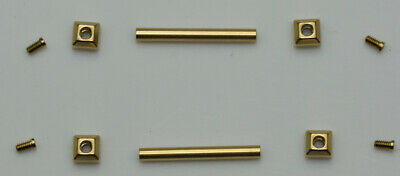 Gold watch part screws tubes CARTIER PASHA pin strap bracelet 16mm-22mm lug pins