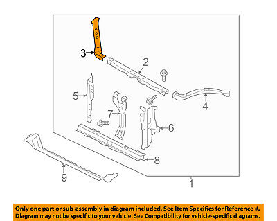 SUBARU OEM 14-16 Forester Radiator Core Support-Upper Tie Bar Right 53029SG0309P