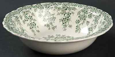 Crown Ducal EARLY ENGLISH IVY GREEN Rimmed Cereal Bowl 92177