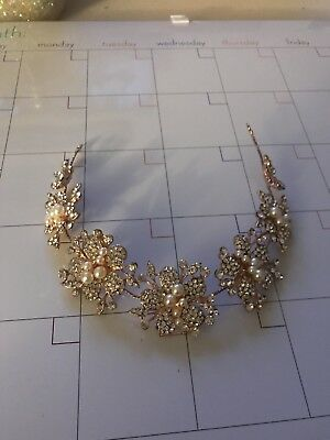 Rose Gold Pearl & Diamond Jewel Headpiece