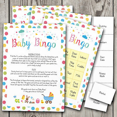 Baby Bingo! Baby Shower Games Bingo ~ Boy / Girl / Unisex (20 Player) #007