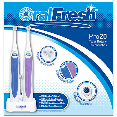 Oral Fresh Pro 20 Twin Rotary Toothbrushes