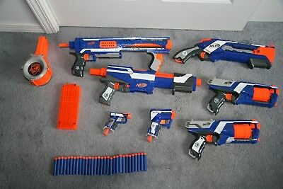Nerf Elite Gun Megastore | 5 Guns Available | Used, Perfect Condition