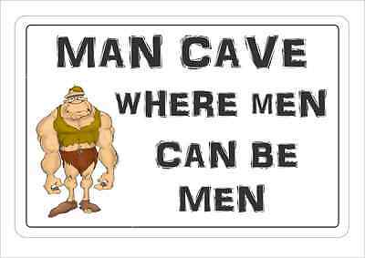 Funny MAN CAVE SIgn Wall Plaque Make Ideal Gift