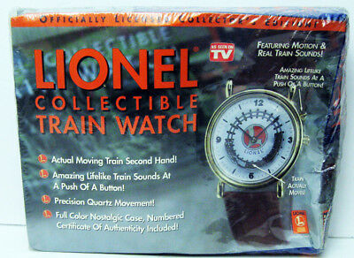 Lionel Motion + Real Train Sounds Quartz Watch + Case As Seen On Tv Sealed Mib