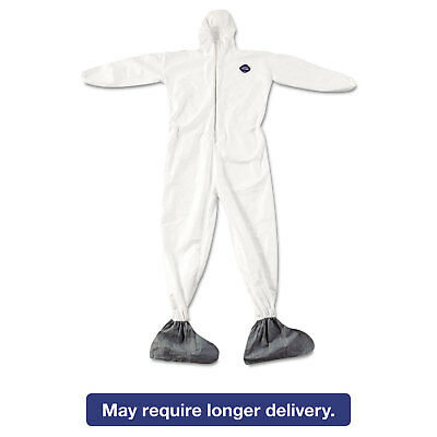DuPont Tyvek Elastic-Cuff Hooded Coveralls w/Boots White 4X-Large 25/Carton