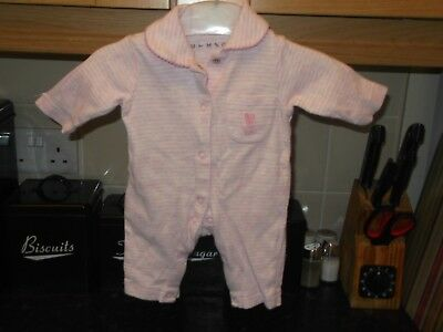 baby girls tiny baby  branded sleepsuit pink up to 6 pounds baby