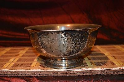 """Vintage Silver-Plated Bowl Webster Wilcox International Silver Co. 9""""x4 1/2"""""""