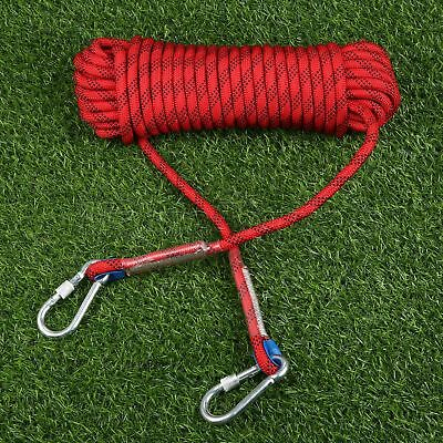 Outdoor Activities 65.6ft Rock Climbing Auxiliary Rope Red Outdoor Sports Rope