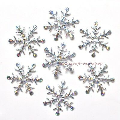Crystal AB Sequin Snowflake Applique AB Rhinestones Sewing Crafts Patch XR74