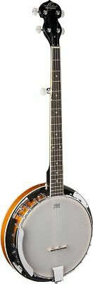 Oscar Schmidt OB4-A Gloss 5 string banjo with resonator and geared 5th string