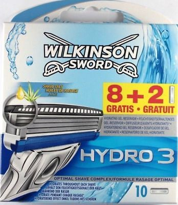 85Wilkinson Sword Hydro 3 Razor Blades - Pack of 10