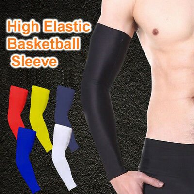 Youth/Men Arm Sleeves Basketball Sports Compression Elastic Support Brace Sleeve
