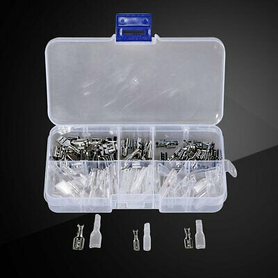 120x Assortment Terminal Kit Electrical Wire Crimp Connectors Male Female Spade