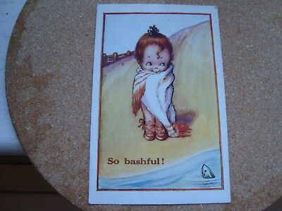 Bashful Comic Postcard,J.SALMON