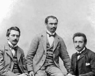 Math Genius ALBERT EINSTEIN, CONRAD HABICHT & MAURICE SOLOVINE 8x10 Photo Poster