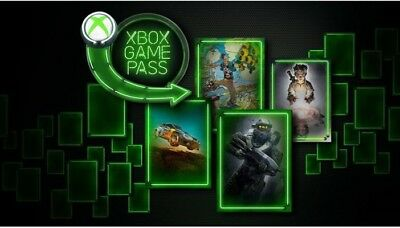 1 month Xbox One Game Pass &14 Day Gold Live Trial