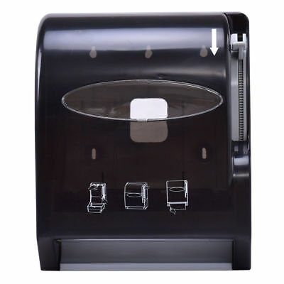 Wall Mount Restaurant Bathroom Paper Roll Hand Towel Dispenser Home Office Black