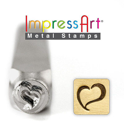 Metal Stamping Swirly Heart Stamp Steel ImpressArt Metal Stamp for Jewelry