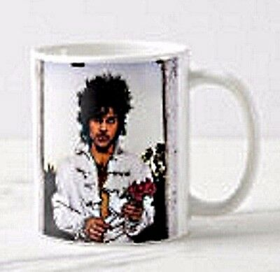 """Prince Rogers Nelson """"When Doves Cry"""" porcelain coffee mug 11oz, Free shipping!!"""