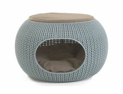 """Keter 22.7 """" x 22.3 """" x 13 """" KNIT Cozy Luxury Lounge Bed & Pet Home with Cush..."""